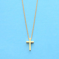 Small, Modern, Cross, Gold, Silver, Necklace, Birthday, Friendship, Mom, Sister, Gift, Jewelry