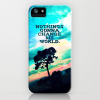 Nothings gonna change my world - for iphone iPhone & iPod Case by Simone Morana Cyla