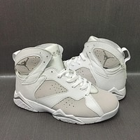 Air Jordan 7 Pure Platinum Basketball Shoes For Men White Metallic Silver 2017 Newest Released Sports Sneakers VII Trainers