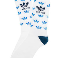 The Originals Total Mini Trefoil Socks in White & Blue