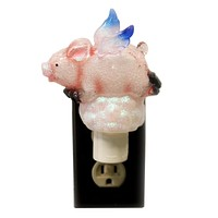 Home Decor FLYING PIG ACRYLIC NIGHTLIGHT Acrylic Wings Clouds 101186