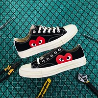 Cdg Play X Converse Chuck Taylor 1970s Low Black
