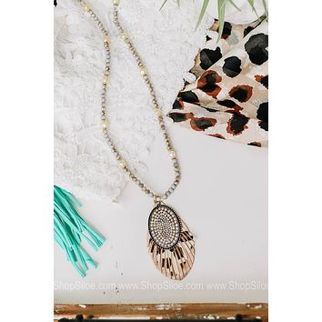 On The Fringe Beaded Necklace