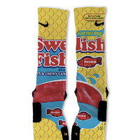 Swedish Fish Fast Shipping!! Nike Elite Socks Customized