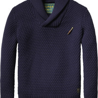 Knitted Shawl Collar Pullover