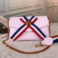 Gucci Women Fashion Leather Chain Shoulder Bag Satchel Crossbody