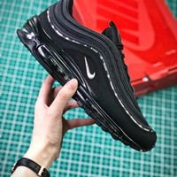 Kappa X Nike Air Max 97 Black Aj1986-007 Sport Running Shoes - Best Online Sale