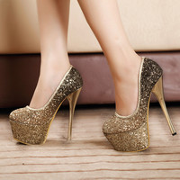 Sexy Sequined High Heels 6495EW