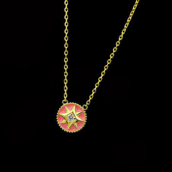 BeadyBoutique Lucky Star Jewelry Collection Necklace - Pink