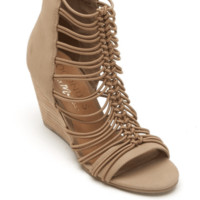 Women's Taupe Parade Wedge Sandal