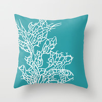 CORAL REEF 8 Throw Pillow by Monika Strigel