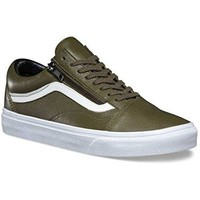 VANS Old Skool Zip Mens Size 6.5 / Womens Size 8 Antique Leather Ivy Green Fashion Shoes