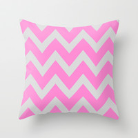 Chevron Chase Throw Pillow by Pop E. Carp