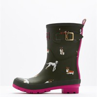 Green Dog Mollywelly Mid Height Rain Boot Wellies | Joules US