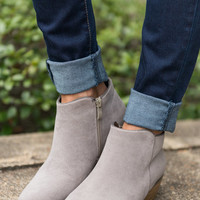 Beauty And The Chic Bootie, Gray
