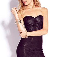 Bombshell Faux Leather Bodycon Dress
