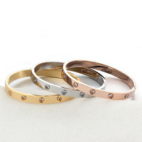Love Bracelet Bangles Screw Bracelet Stainless Steel Bangle Gold Color Bracelets & Bangles For Women Jewelry Gift (BA101759)