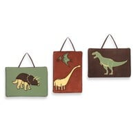 Sweet Jojo Designs Dinosaur Land 3-Piece Wall Hanging Set