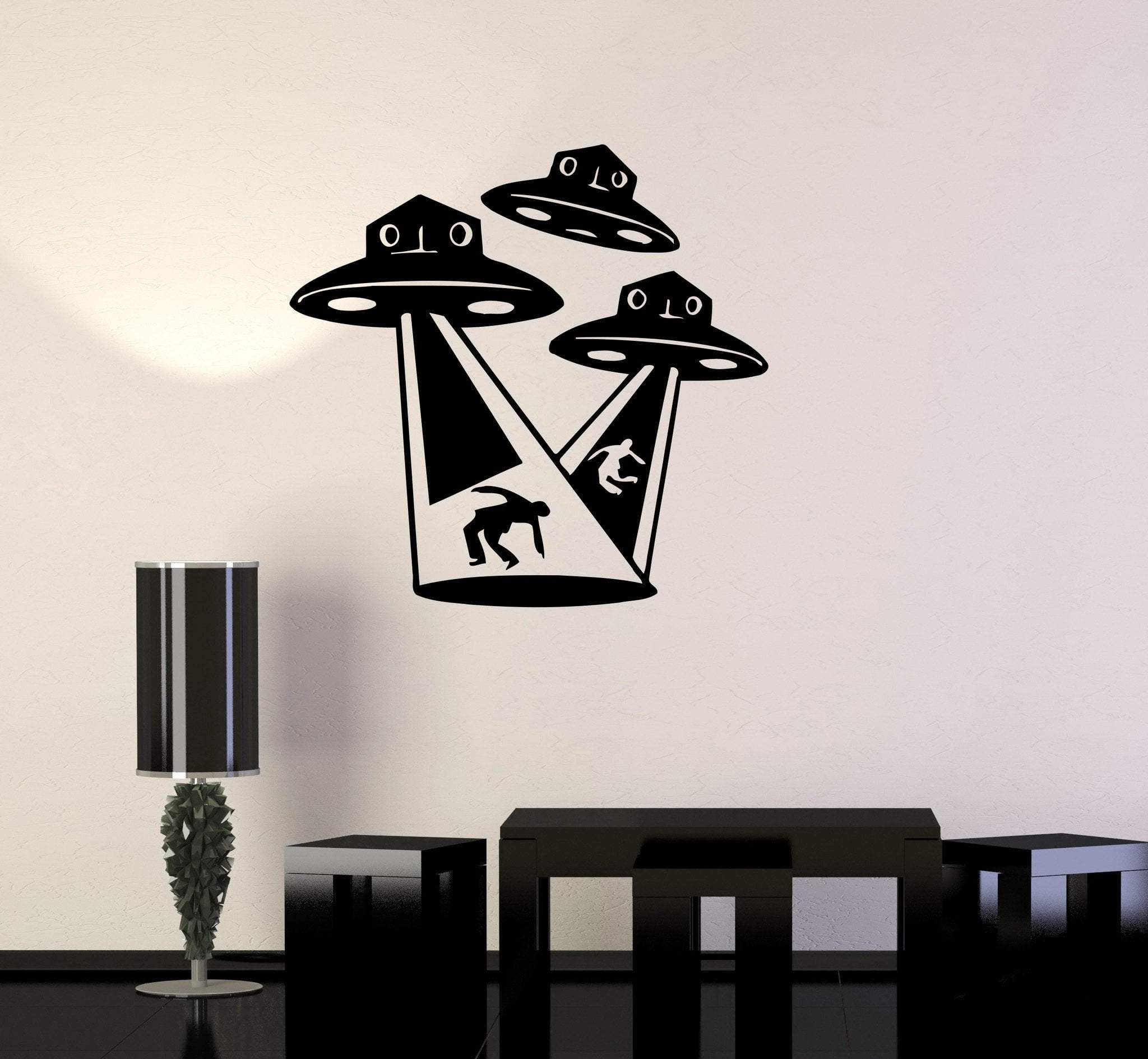 Image of Wall Stickers Vinyl Decal Aliens UFO Fantasy Supernatural Mystery Kids Unique Gift (ig1683)