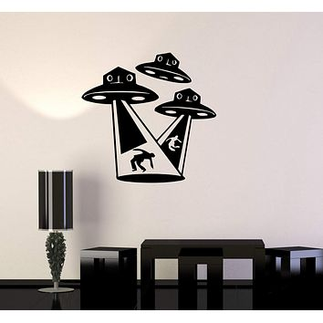Wall Stickers Vinyl Decal Aliens UFO Fantasy Supernatural Mystery Kids Unique Gift (ig1683)