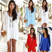 New Sexy Women Summer Casual Sleeveless Party Evening Cocktail Short Mini Dress = 1931650436