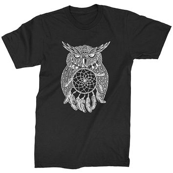 White Owl Dreamcatcher Mens T-shirt
