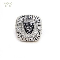 Drop shipping 2015 Oakland raiders Football Ring as a gift    Custom football championship ring