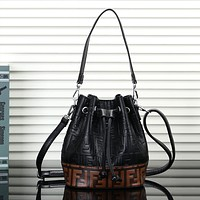 FENDI Women Leather Handbag Tote Bucket Bag Shoulder Bag Crossbody Satchel