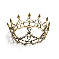 Gothic Structures Mini Crown Tiara in Antiqued Gold