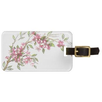Cherry Blossoms Travel Bag Tag from Zazzle.com
