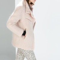 Car coat with stand collar