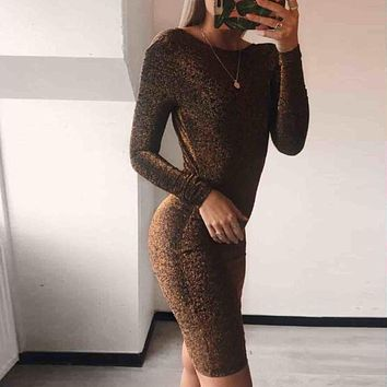 Club summer dress women Party long sleeve bodycon mini dress Wrap o-neck sexy backless ladies dresses vestidos Fashion