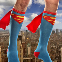 Unisex Superman Batman Costume Knee High Socks Cosplay Stocking = 1927910852