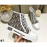 DIOR 2019 new casual lace canvas women's high-top sneakers #1