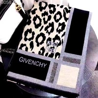 Givenchy Leopard Jacquard Women's Long Shawl Scarf red