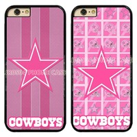 JR0504 Dallas Cowboys Pink PC+TPU Edge Phone Case Cover For iphone XS MAX XR X 5s 6s 7 8 Plus Samsung s5 s6 s7 s8 s9 J5 #T099