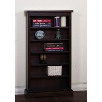 Sunny Designs Open CD/DVD Rack In Dark Chocolate