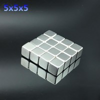 15pcs 5x5x5 mm Strong Rare Earth Block  square Neodymium Magnets 5x5x5mm strong magnet 5*5*5 mm