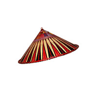 Asian Mid 20th Century Conical Bamboo Hat