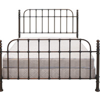 Dark Copper Metal Bed