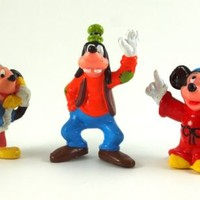 MICKEY MOUSE Figures DISNEY PVC TOY Cake Topper MICKEY & GOOFY