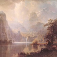 Albert Bierstadt In the Mountains Poster 24x36