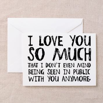 'I Love You So Much' Greeting Card
