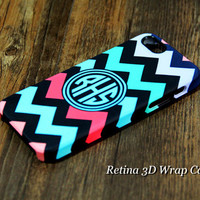 Chevron Monogram iPhone 6S Plus 6 5S 5C 5 4 Protective Case #977