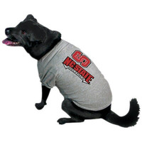 NCAA North Carolina State Wolfpack Pet T-Shirt, Medium, Team Color