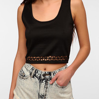 Urban Outfitters - Sparkle & Fade Laser-Cut Cropped Tank Top