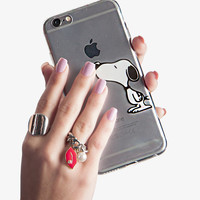 Clear Snoopy Phone Case