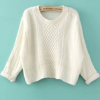 Relaxed Cropped Knit Sweater