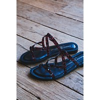 Coralie Slide On Studded Sandal, Brown | Chinese Laundry