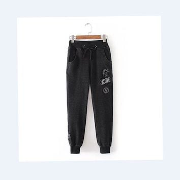 Sports Hot Deal On Sale Pants Autumn Couple Denim Rinsed Denim Stretch Casual Embroidery Baseball [211442630668]